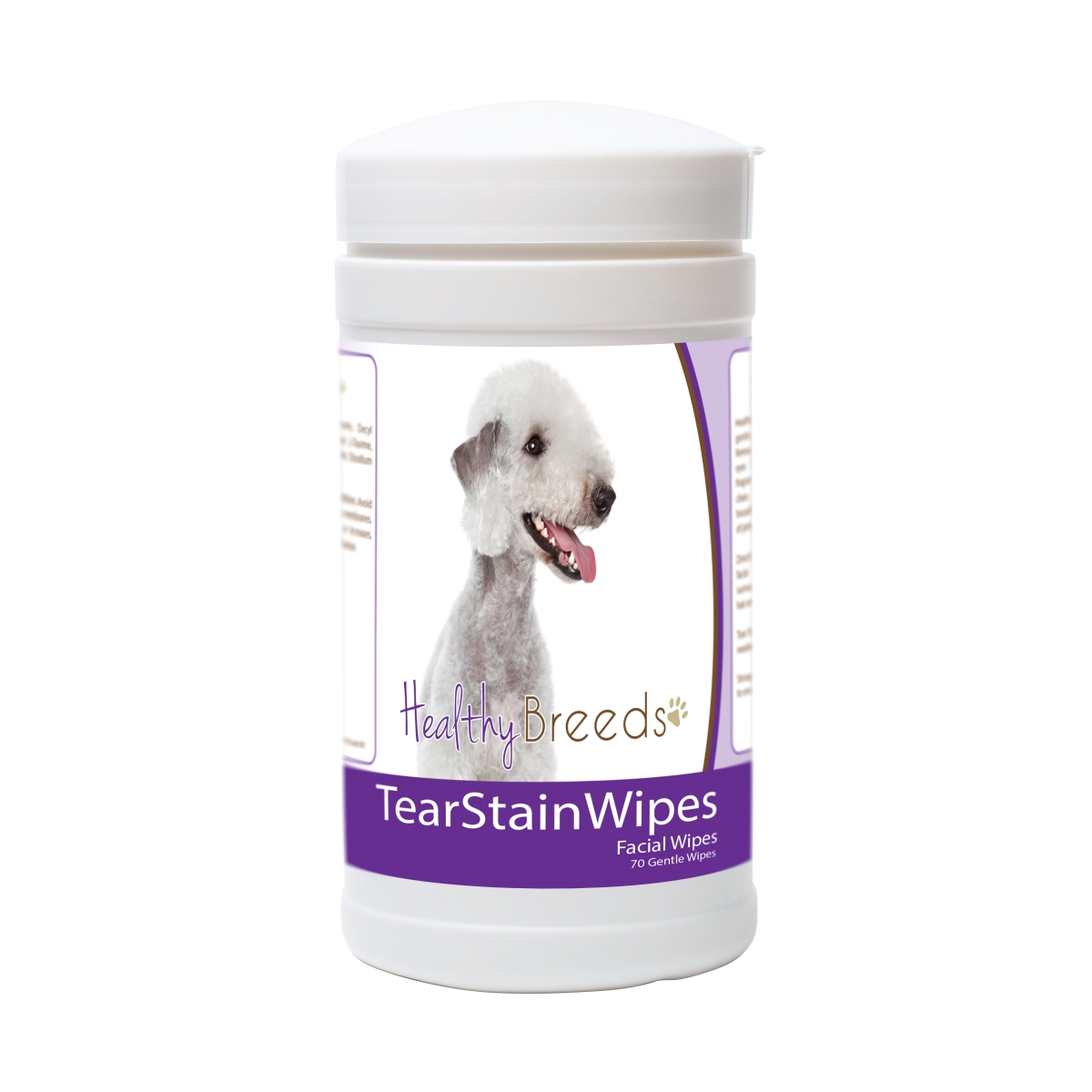 Healthy Breeds 840235171256 Bedlington Terrier Tear Stain Wipes - 70 Count
