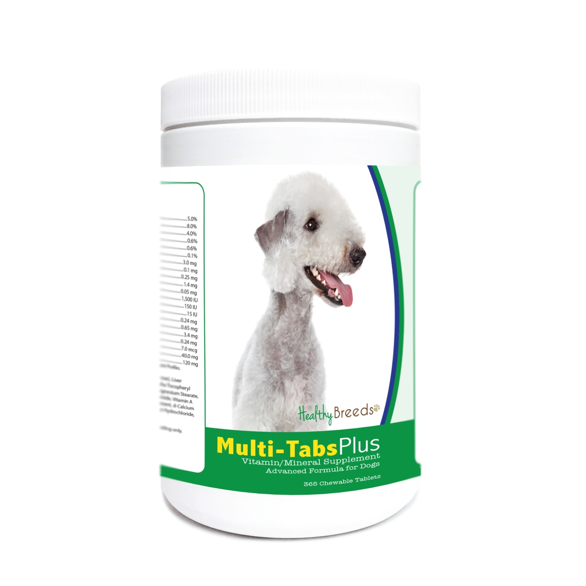 Healthy Breeds 840235171263 Bedlington Terrier Multi-Tabs Plus Chewable Tablets - 365 Count