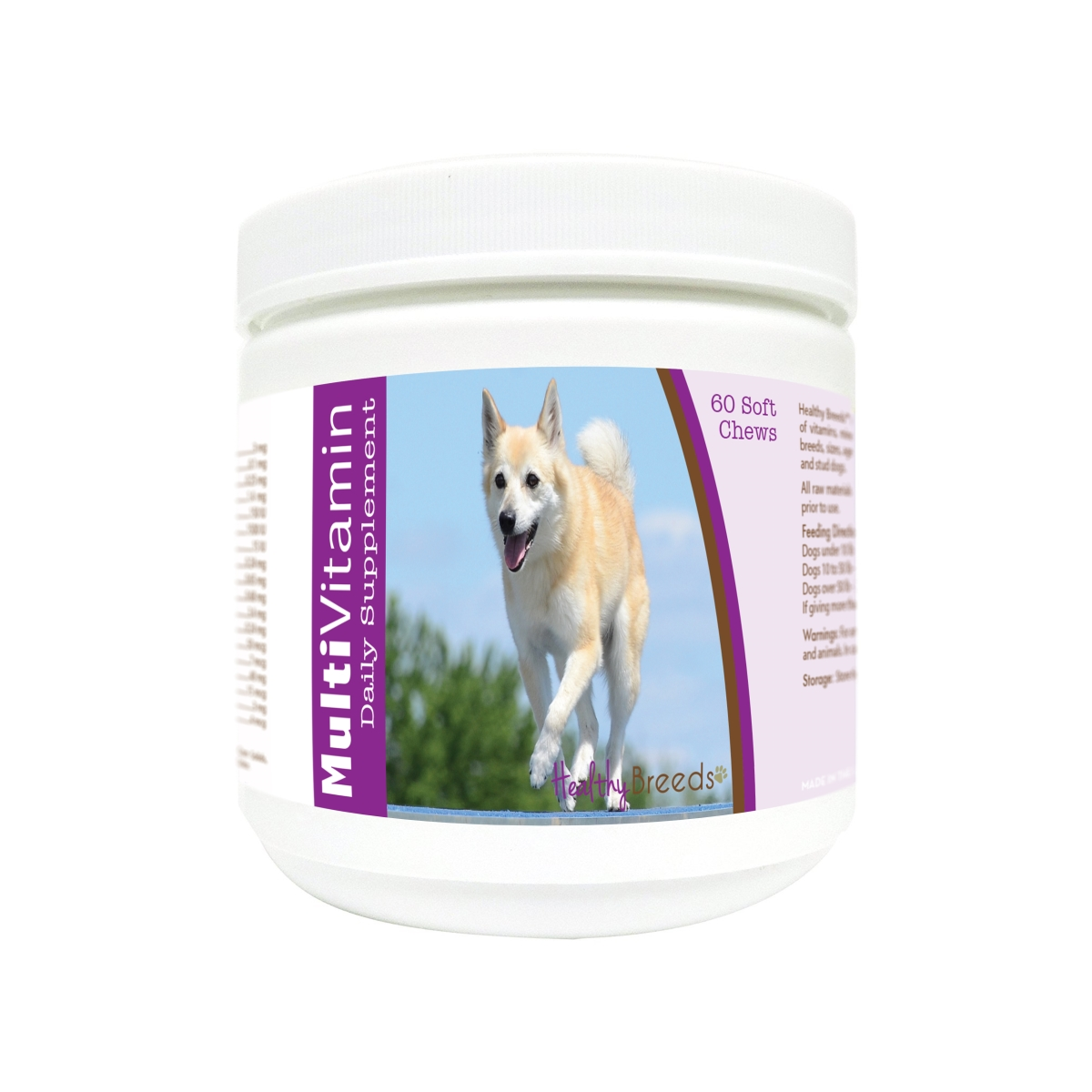 Healthy Breeds 840235171331 Norwegian Buhund Multi-Vitamin Soft Chews - 60 Count