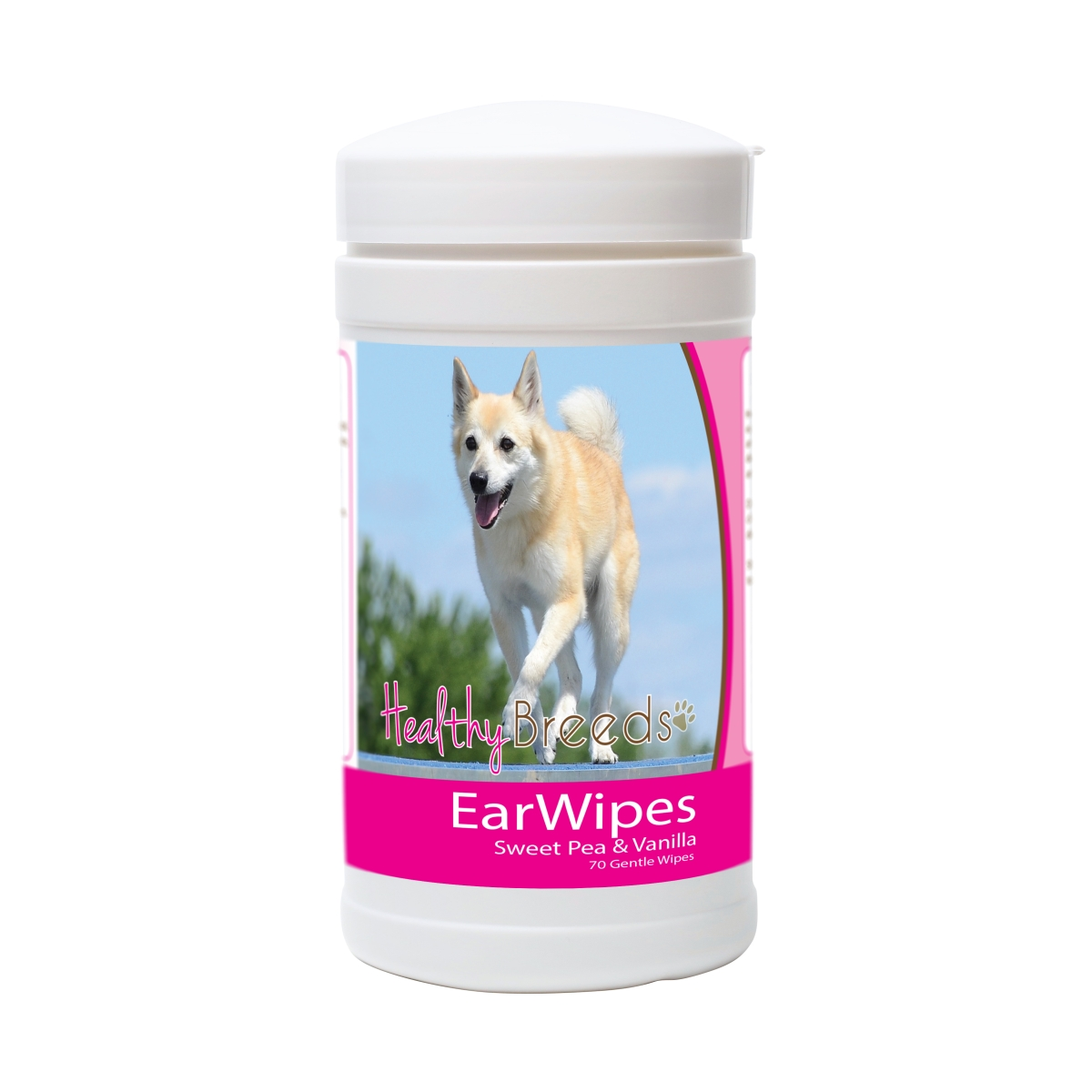 Healthy Breeds 840235171355 Norwegian Buhund Ear Wipes - 70 Count