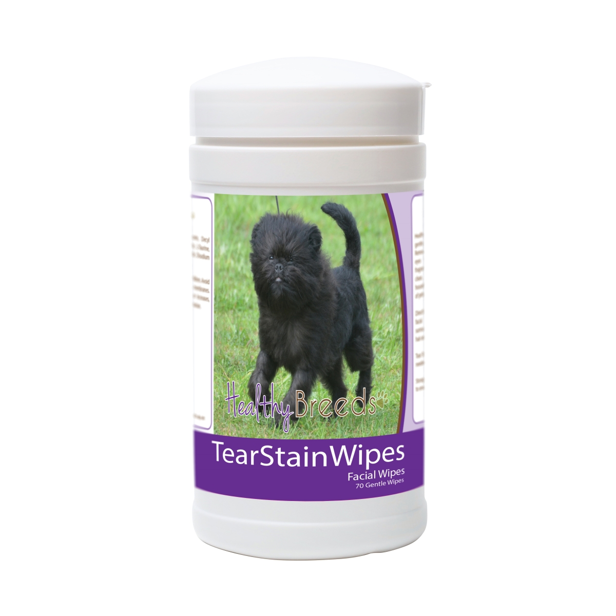 Healthy Breeds 840235171416 Affenpinscher Tear Stain Wipes - 70 Count