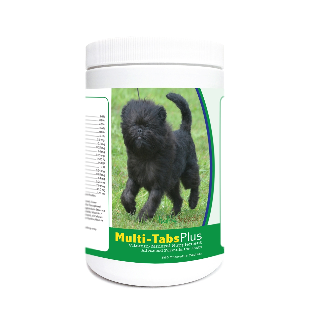 Healthy Breeds 840235171508 Affenpinscher Multi-Tabs Plus Chewable Tablets - 365 Count