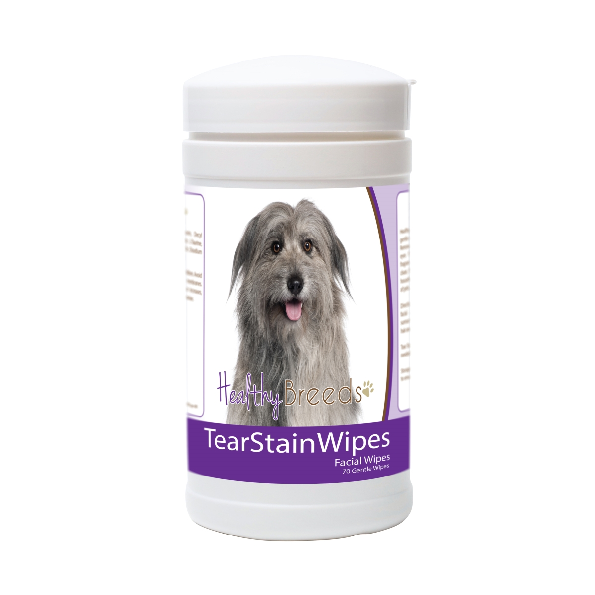Healthy Breeds 840235171553 Pyrenean Shepherd Tear Stain Wipes - 70 Count