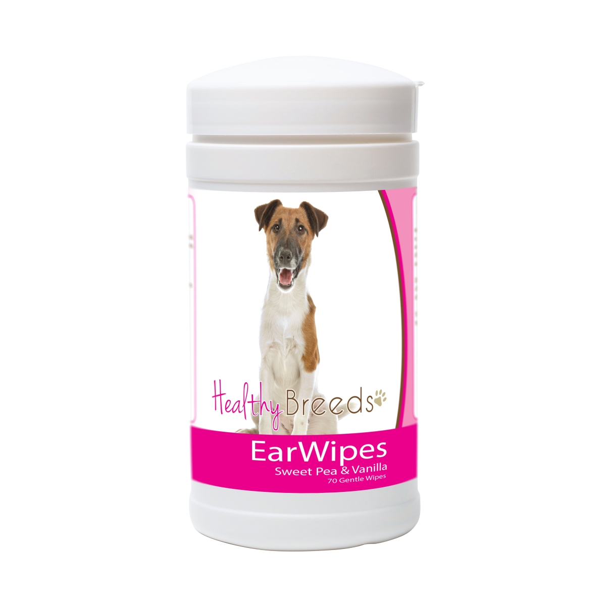 Healthy Breeds 840235171645 Smooth Fox Terrier Ear Wipes - 70 Count