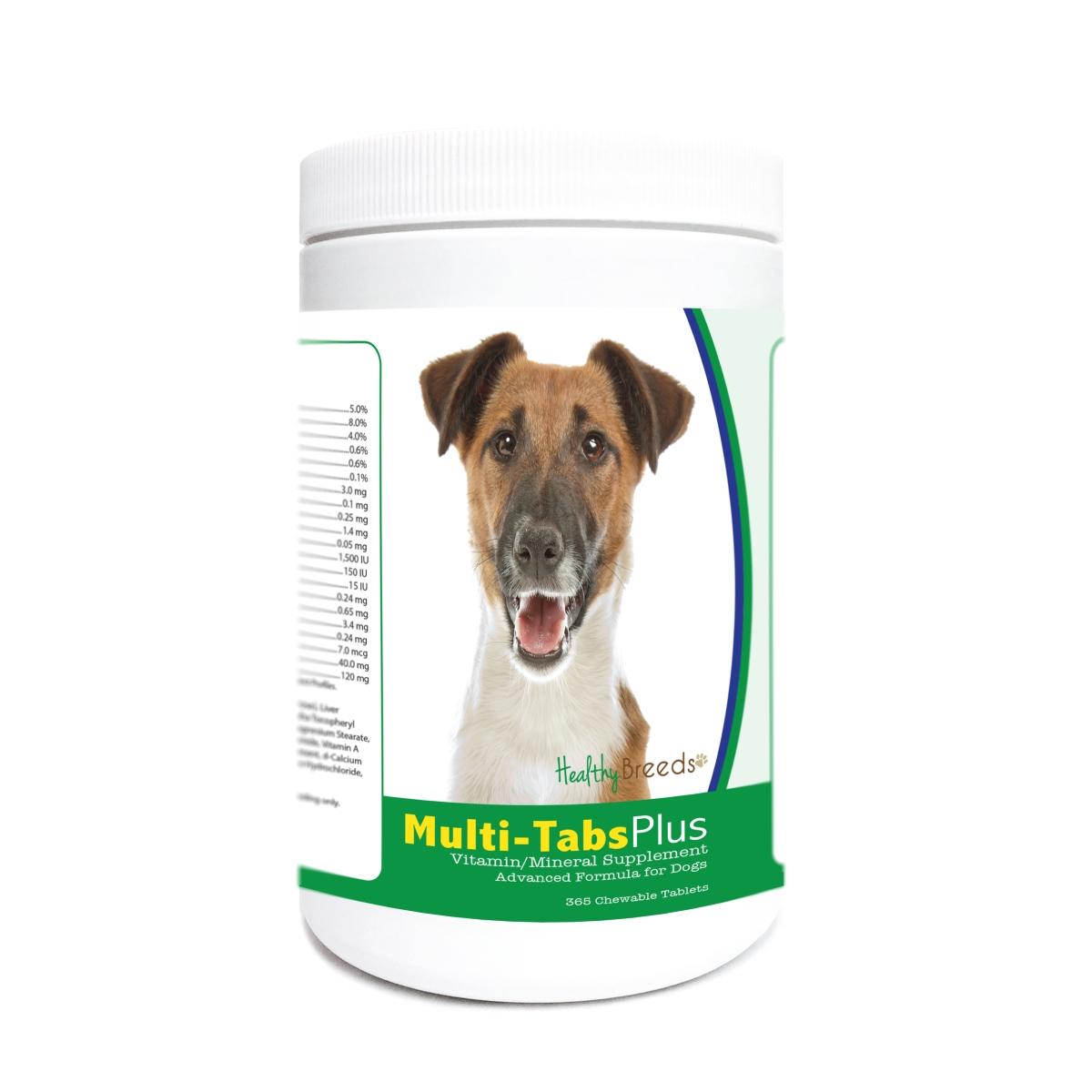 Healthy Breeds 840235171676 Smooth Fox Terrier Multi-Tabs Plus Chewable Tablets - 365 Count