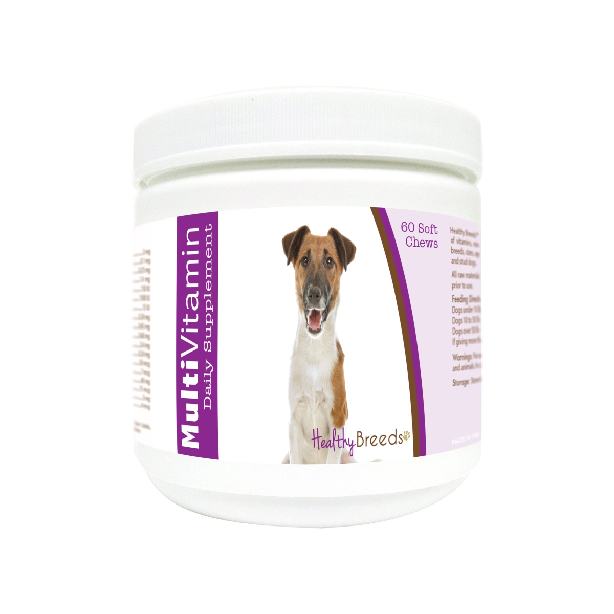 Healthy Breeds 840235171720 Smooth Fox Terrier Multi-Vitamin Soft Chews - 60 Count