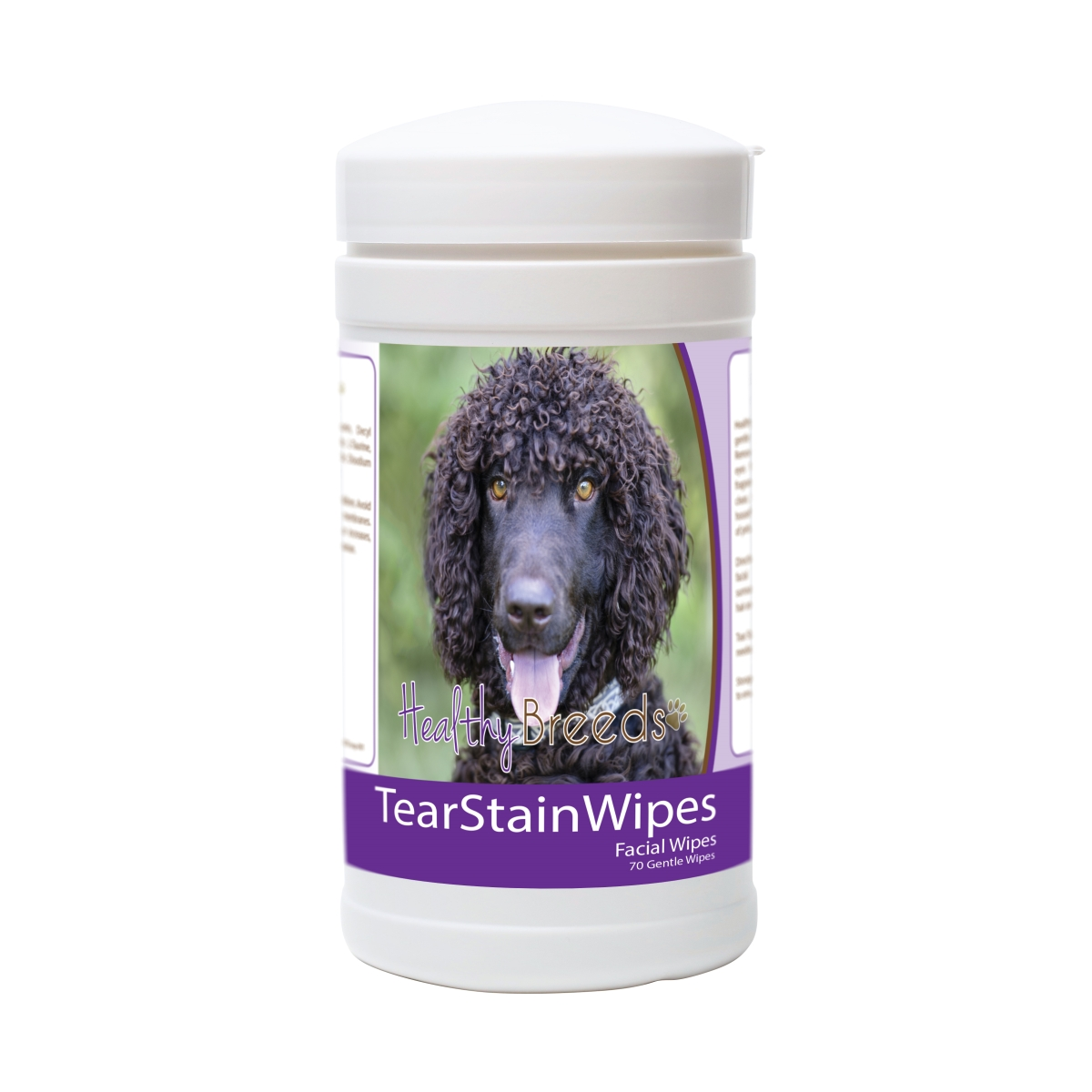Healthy Breeds 840235172086 Irish Water Spaniel Tear Stain Wipes - 70 Count