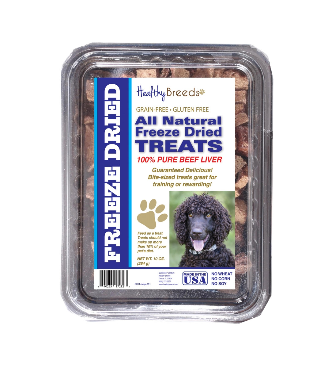 Healthy Breeds 840235172123 10 oz Irish Water Spaniel All Natural Freeze Dried Treats Beef Liver