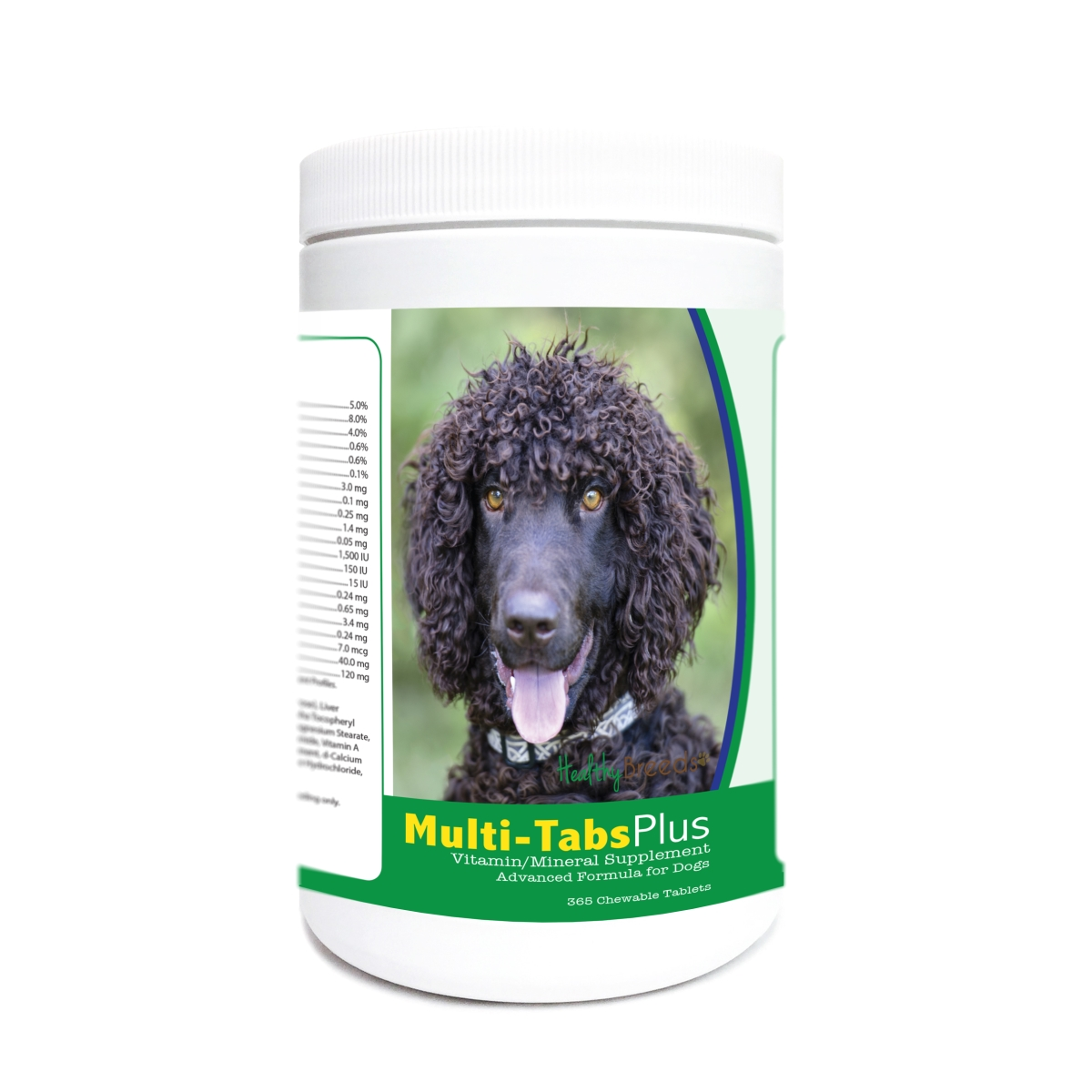 Healthy Breeds 840235172161 Irish Water Spaniel Multi-Tabs Plus Chewable Tablets - 365 Count