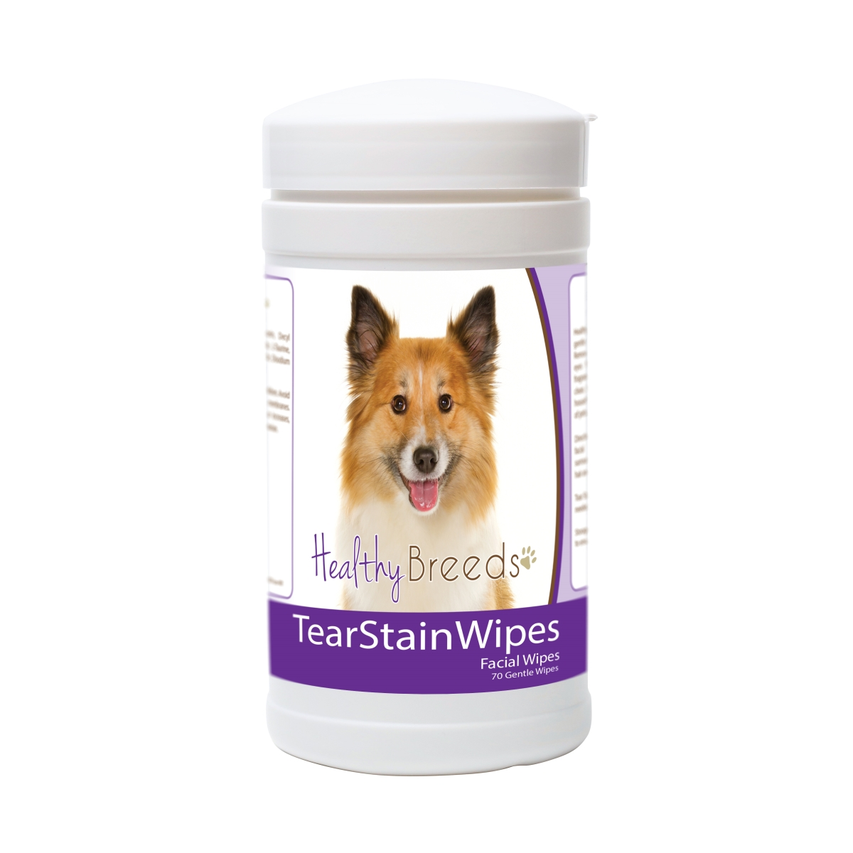 Healthy Breeds 840235172192 Icelandic Sheepdog Tear Stain Wipes - 70 Count
