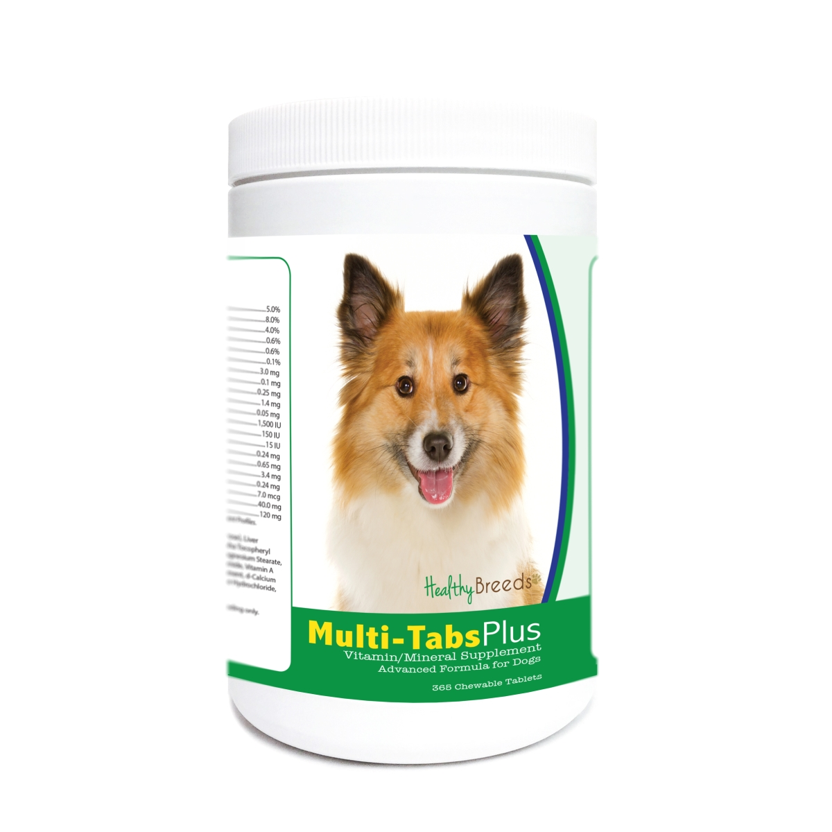 Healthy Breeds 840235172239 Icelandic Sheepdog Multi-Tabs Plus Chewable Tablets - 365 Count
