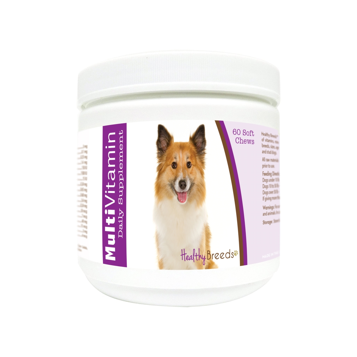 Healthy Breeds 840235172260 Icelandic Sheepdog Multi-Vitamin Soft Chews - 60 Count