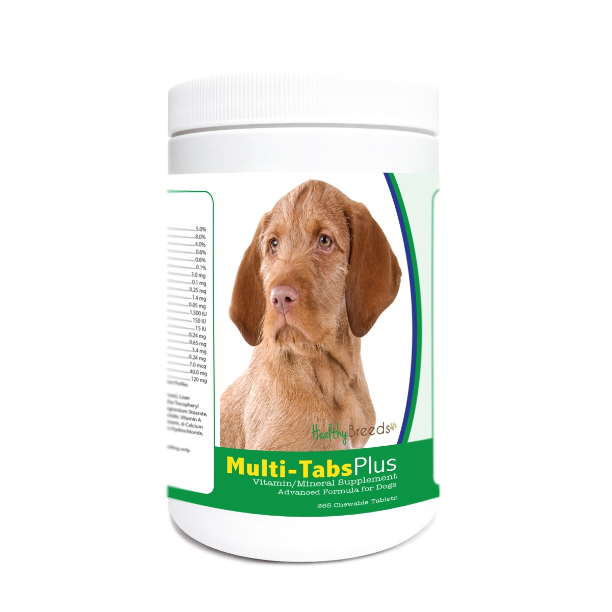 Healthy Breeds 840235172451 Wirehaired Vizsla Multi-Tabs Plus Chewable Tablets - 365 Count