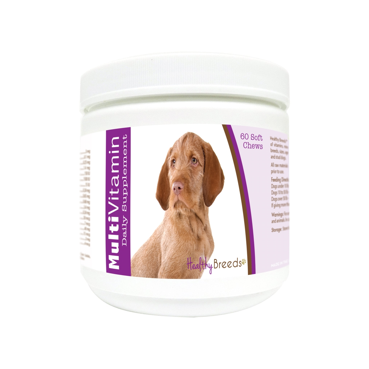 Healthy Breeds 840235172505 Wirehaired Vizsla Multi-Vitamin Soft Chews - 60 Count