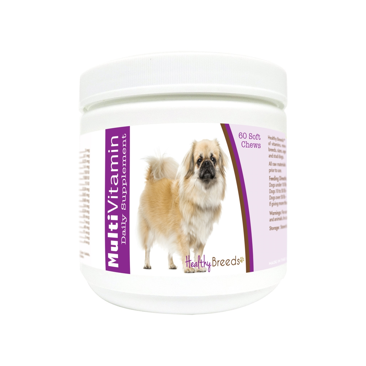 Healthy Breeds 840235172550 Tibetan Spaniel Multi-Vitamin Soft Chews - 60 Count