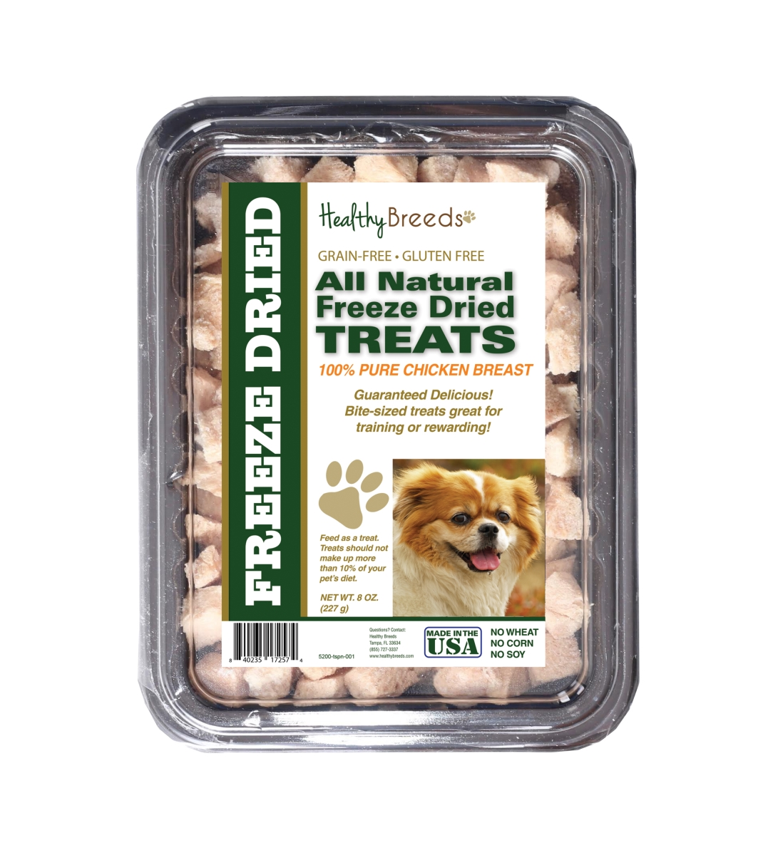 Healthy Breeds 840235172574 8 oz Tibetan Mastiff All Natural Freeze Dried Treats Chicken Breast