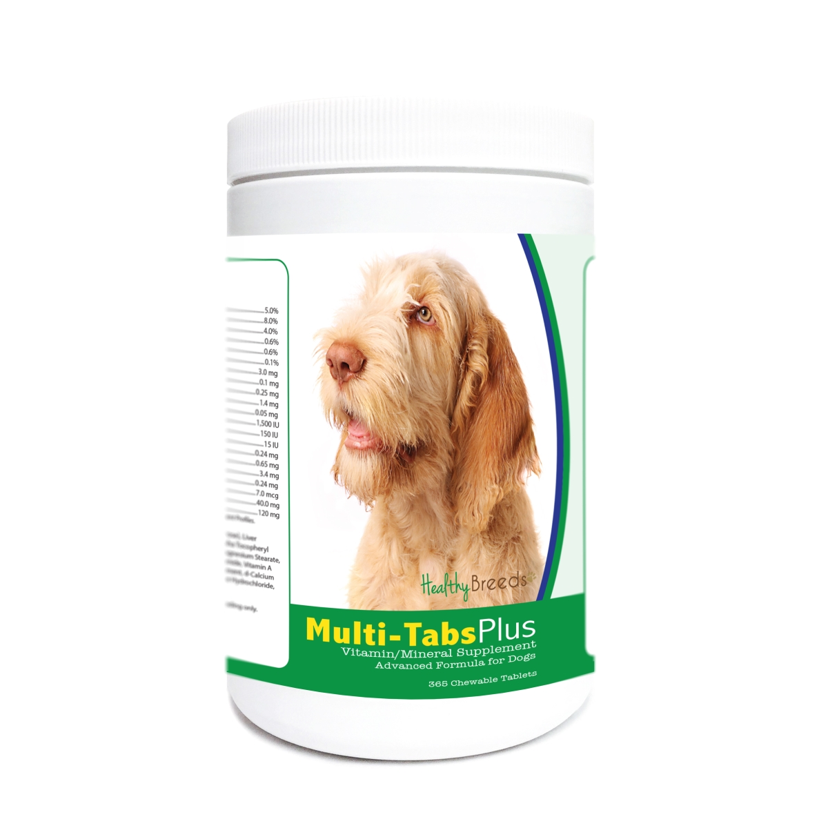 Healthy Breeds 840235172727 Spinoni Italiani Multi-Tabs Plus Chewable Tablets - 365 Count