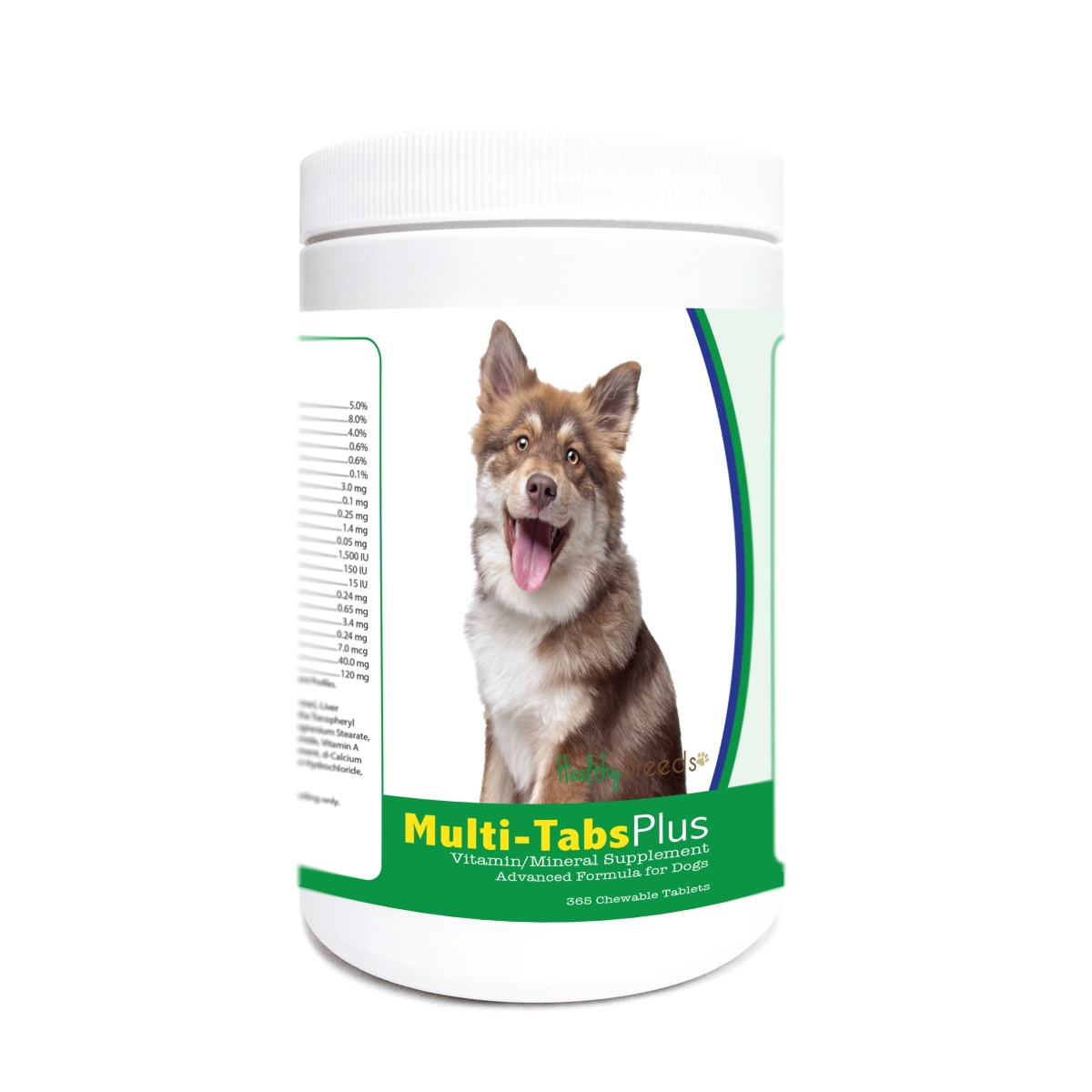 Healthy Breeds 840235172949 Finnish Lapphund Multi-Tabs Plus Chewable Tablets - 365 Count
