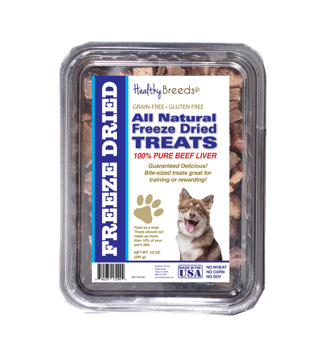Healthy Breeds 840235172994 10 oz Finnish Lapphund All Natural Freeze Dried Treats Beef Liver