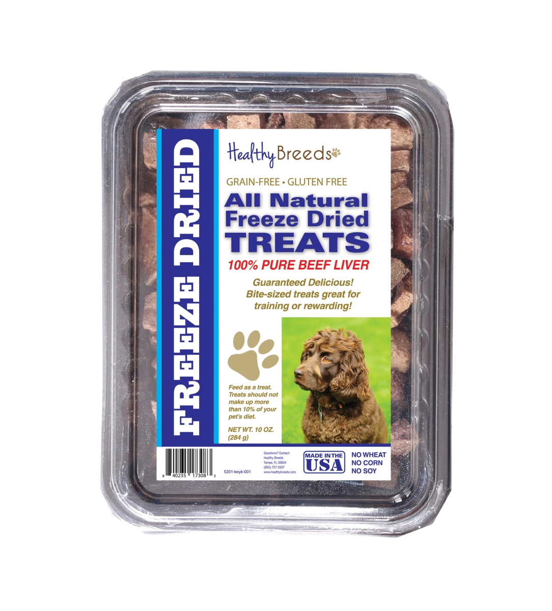 Healthy Breeds 840235173083 10 oz Boykin Spaniel All Natural Freeze Dried Treats Beef Liver
