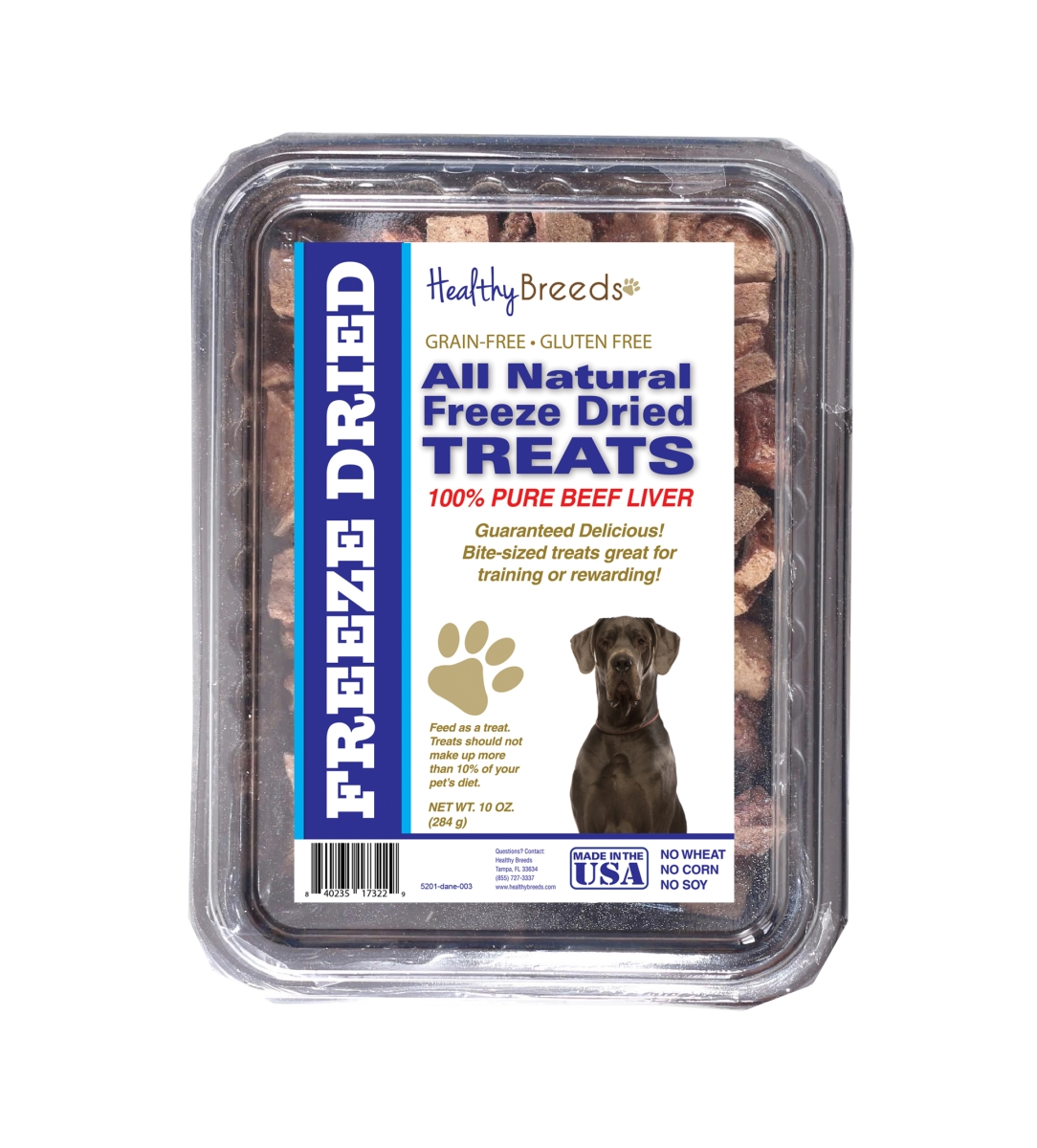 Healthy Breeds 840235173229 10 oz Great Dane All Natural Freeze Dried Treats Beef Liver