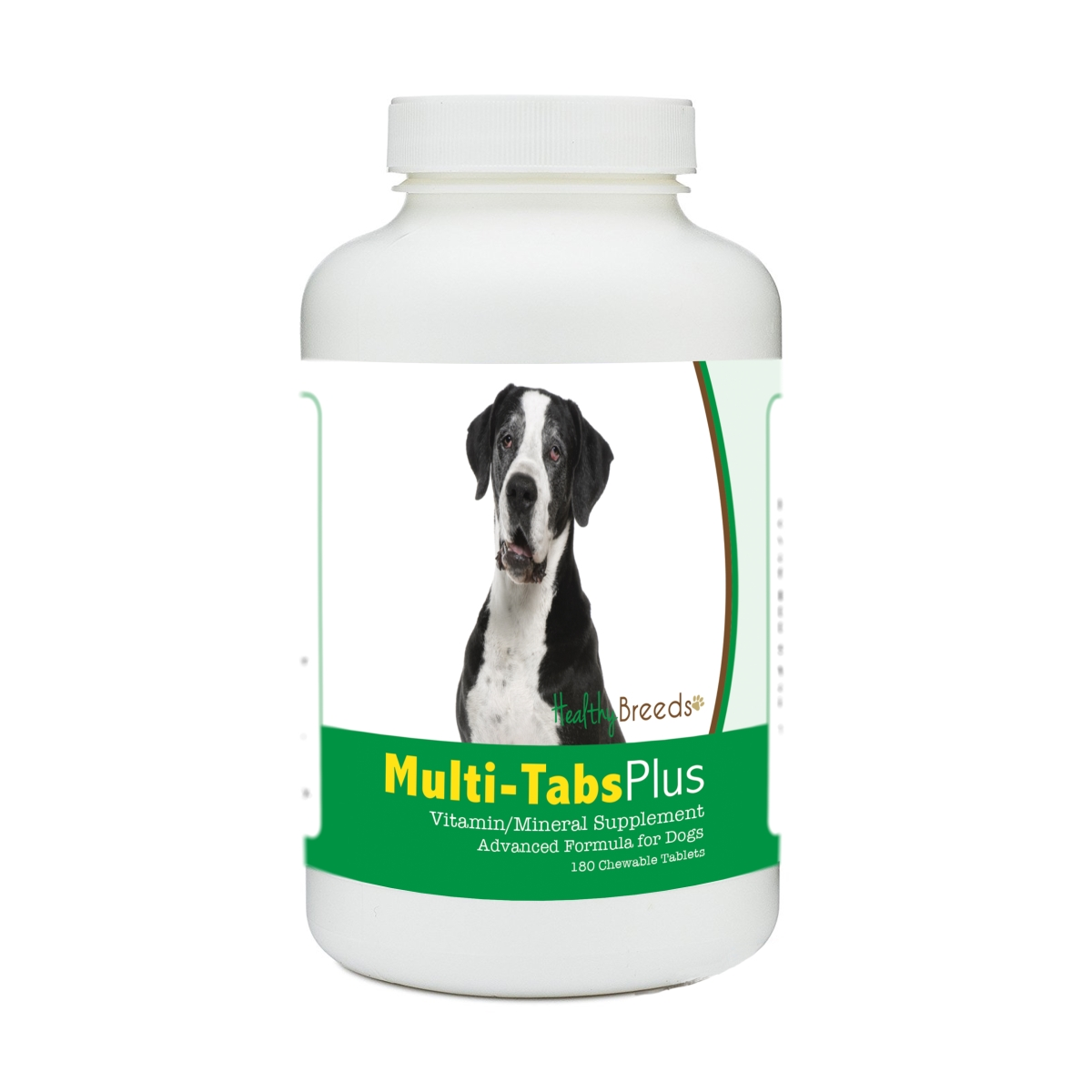 Healthy Breeds 840235173342 Great Dane Multi-Tabs Plus Chewable Tablets - 180 Count