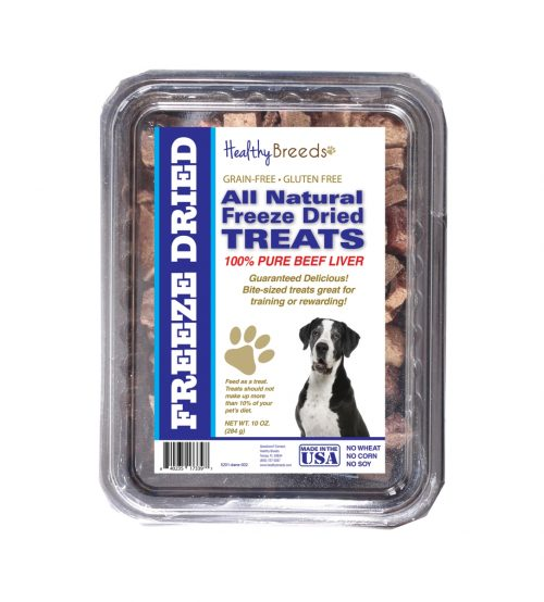 Healthy Breeds 840235173397 10 oz Great Dane All Natural Freeze Dried Treats Beef Liver
