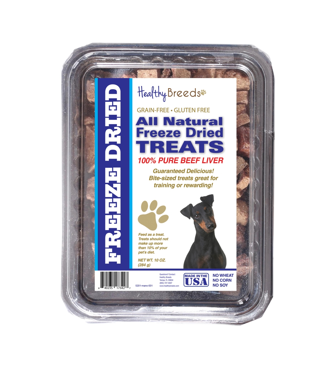 Healthy Breeds 840235173427 10 oz Manchester Terrier All Natural Freeze Dried Treats Beef Liver