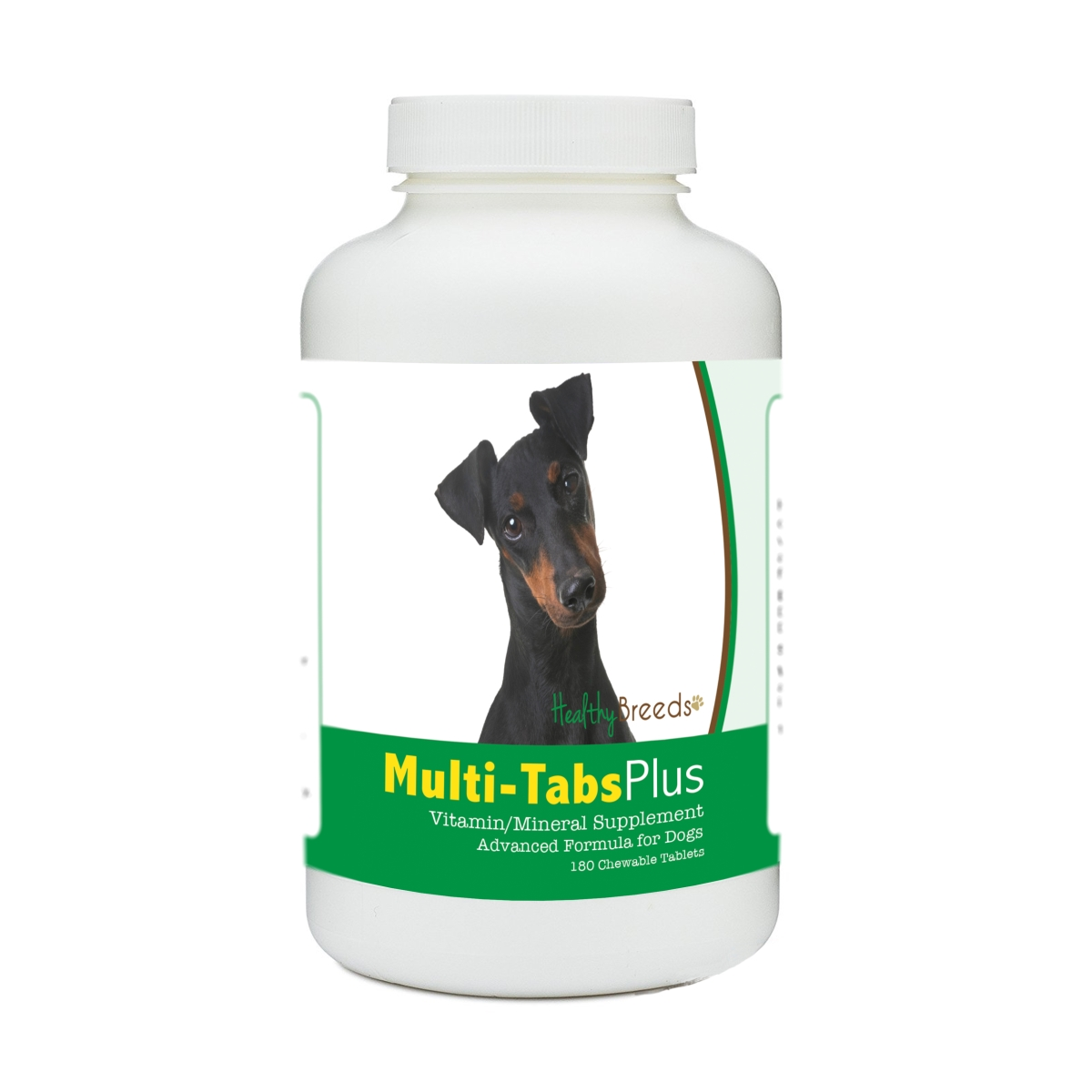 Healthy Breeds 840235173502 Manchester Terrier Multi-Tabs Plus Chewable Tablets - 180 Count