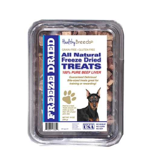 Healthy Breeds 840235173649 10 oz German Pinscher All Natural Freeze Dried Treats Beef Liver
