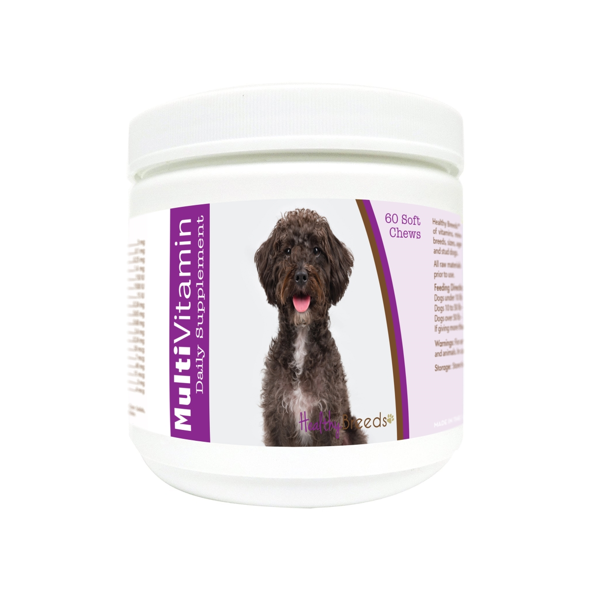 Healthy Breeds 840235173687 Schnoodle Multi-Vitamin Soft Chews - 60 Count