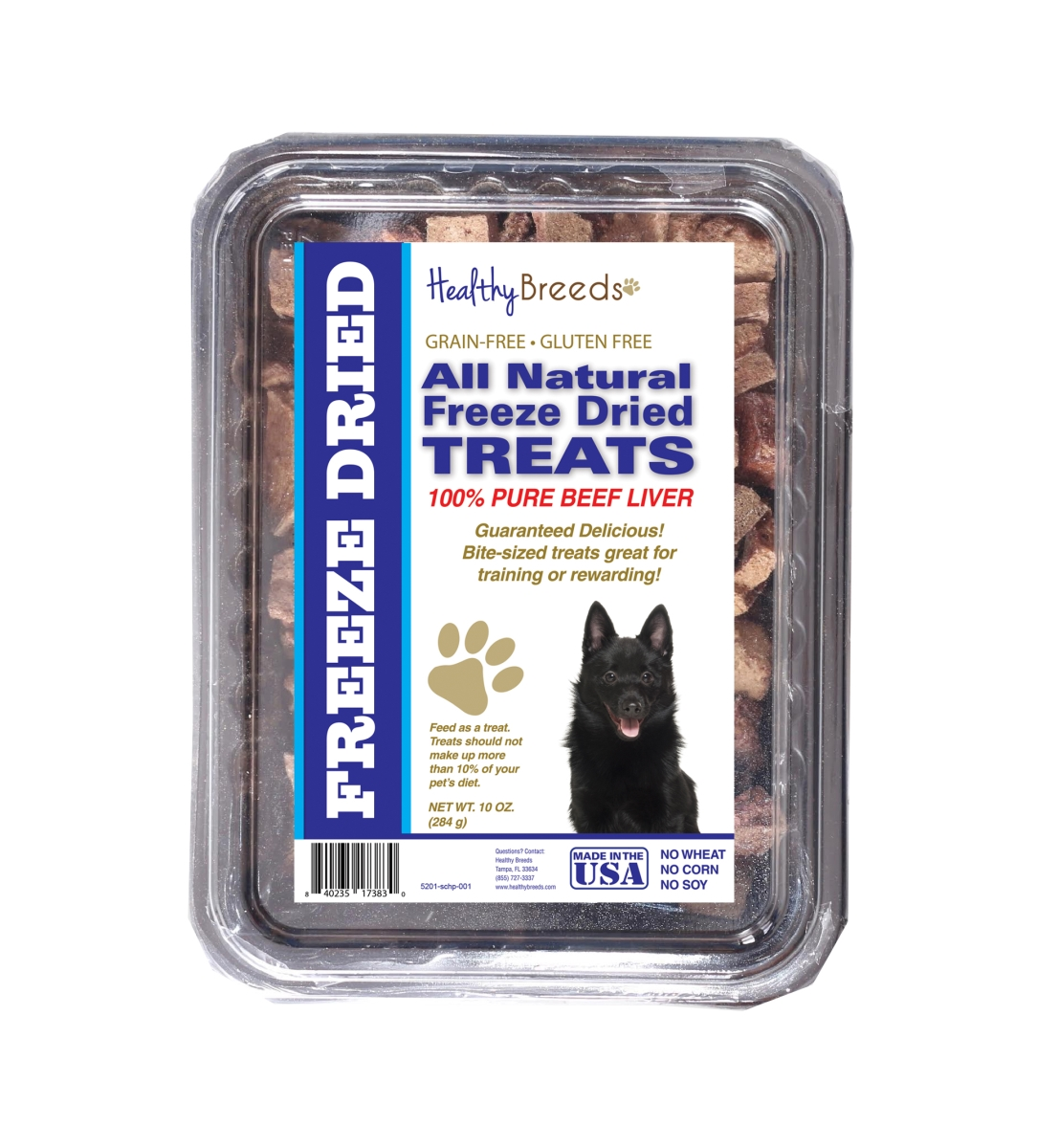 Healthy Breeds 840235173830 10 oz Schipperke All Natural Freeze Dried Treats Beef Liver