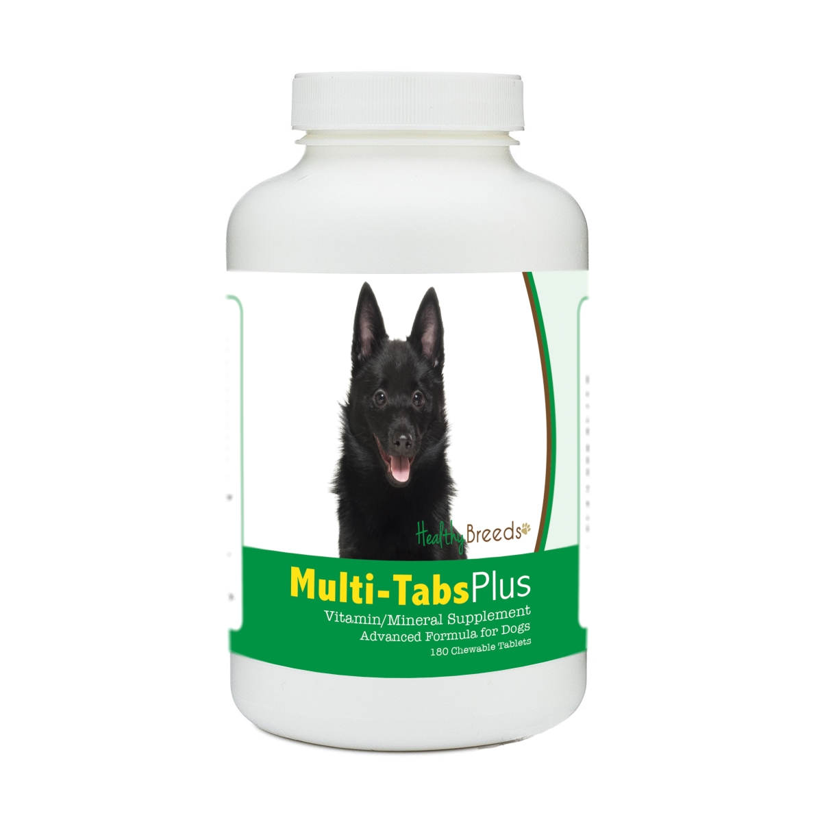 Healthy Breeds 840235173861 Schipperke Multi-Tabs Plus Chewable Tablets - 180 Count