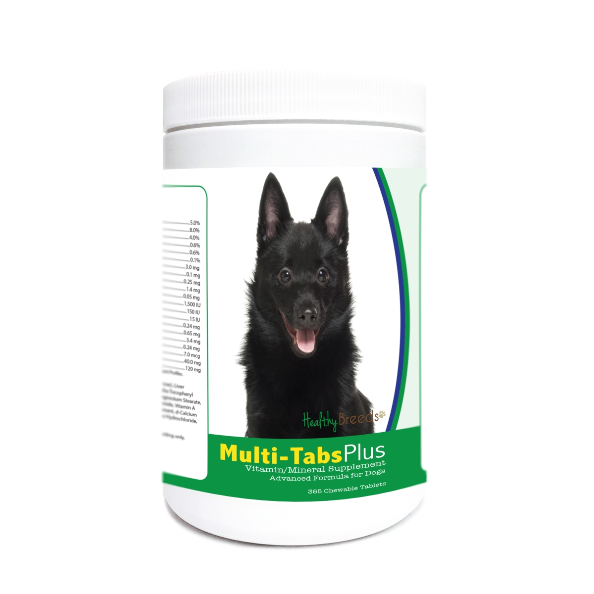 Healthy Breeds 840235173878 Schipperke Multi-Tabs Plus Chewable Tablets - 365 Count