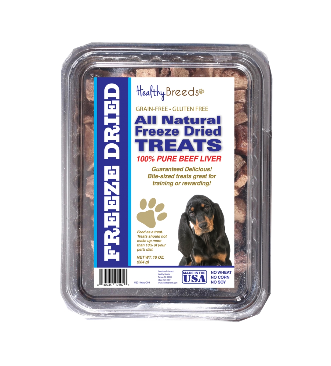 Healthy Breeds 840235174073 10 oz Black & Tan Coonhound All Natural Freeze Dried Treats Beef Liver