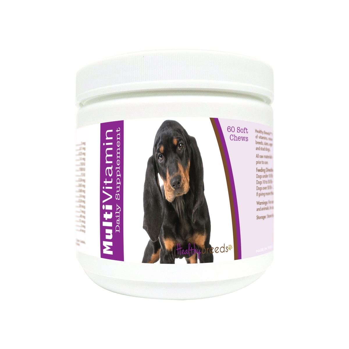 Healthy Breeds 840235174110 Black & Tan Coonhound Multi-Vitamin Soft Chews - 60 Count