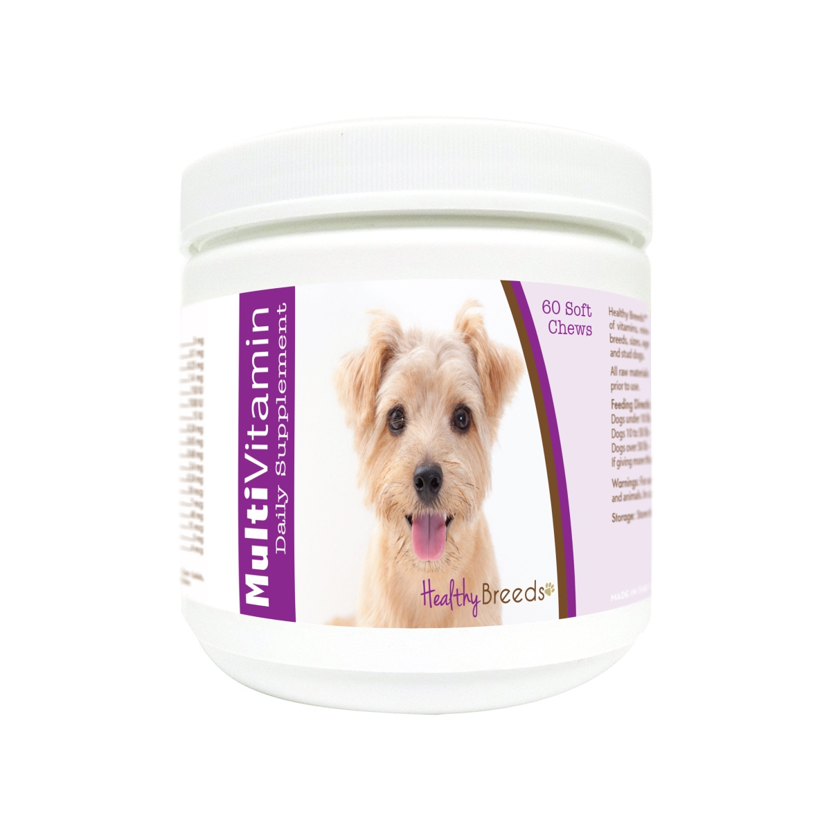 Healthy Breeds 840235174158 Norfolk Terrier Multi-Vitamin Soft Chews - 60 Count