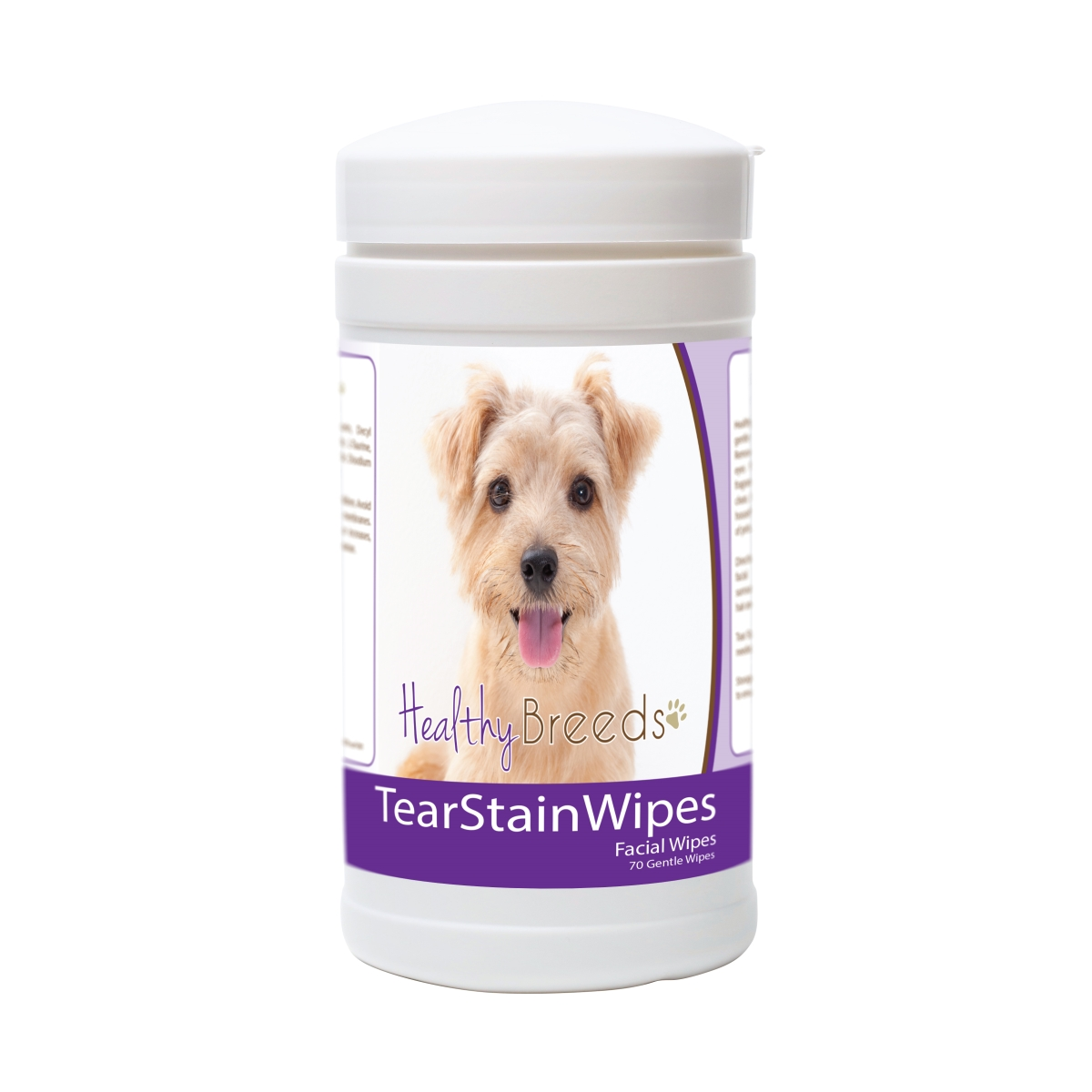Healthy Breeds 840235174219 Norfolk Terrier Tear Stain Wipes - 70 Count