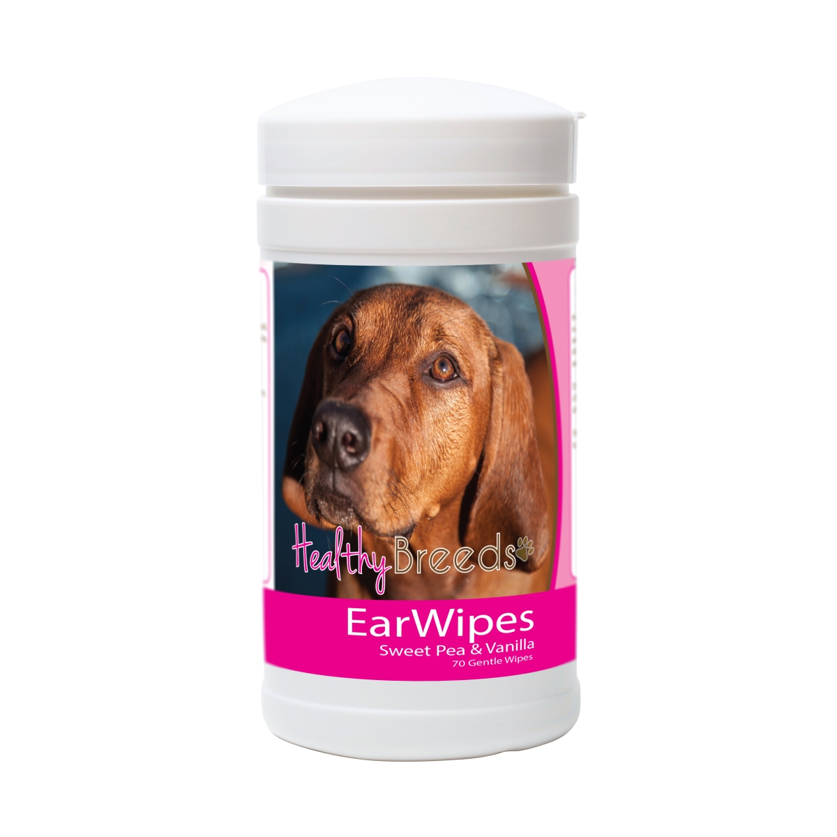 Healthy Breeds 840235174325 Redbone Coonhound Ear Wipes - 70 Count