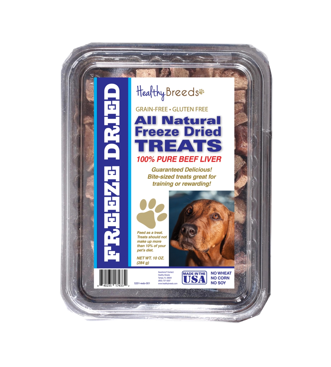 Healthy Breeds 840235174332 10 oz Redbone Coonhound All Natural Freeze Dried Treats Beef Liver