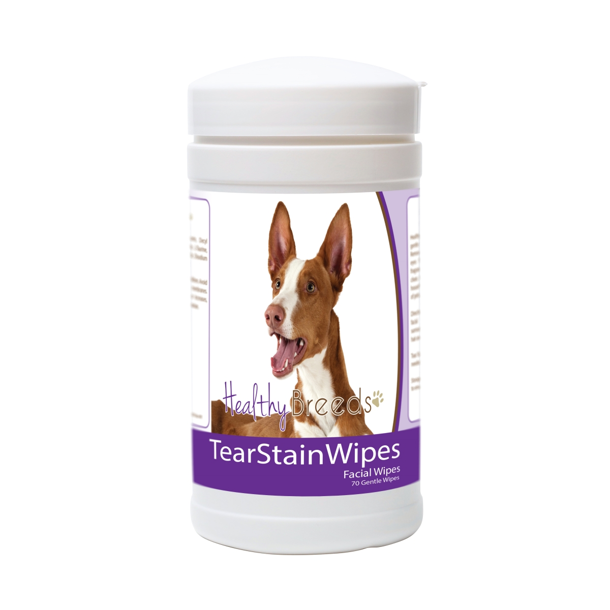 Healthy Breeds 840235174424 Ibizan Hound Tear Stain Wipes - 70 Count