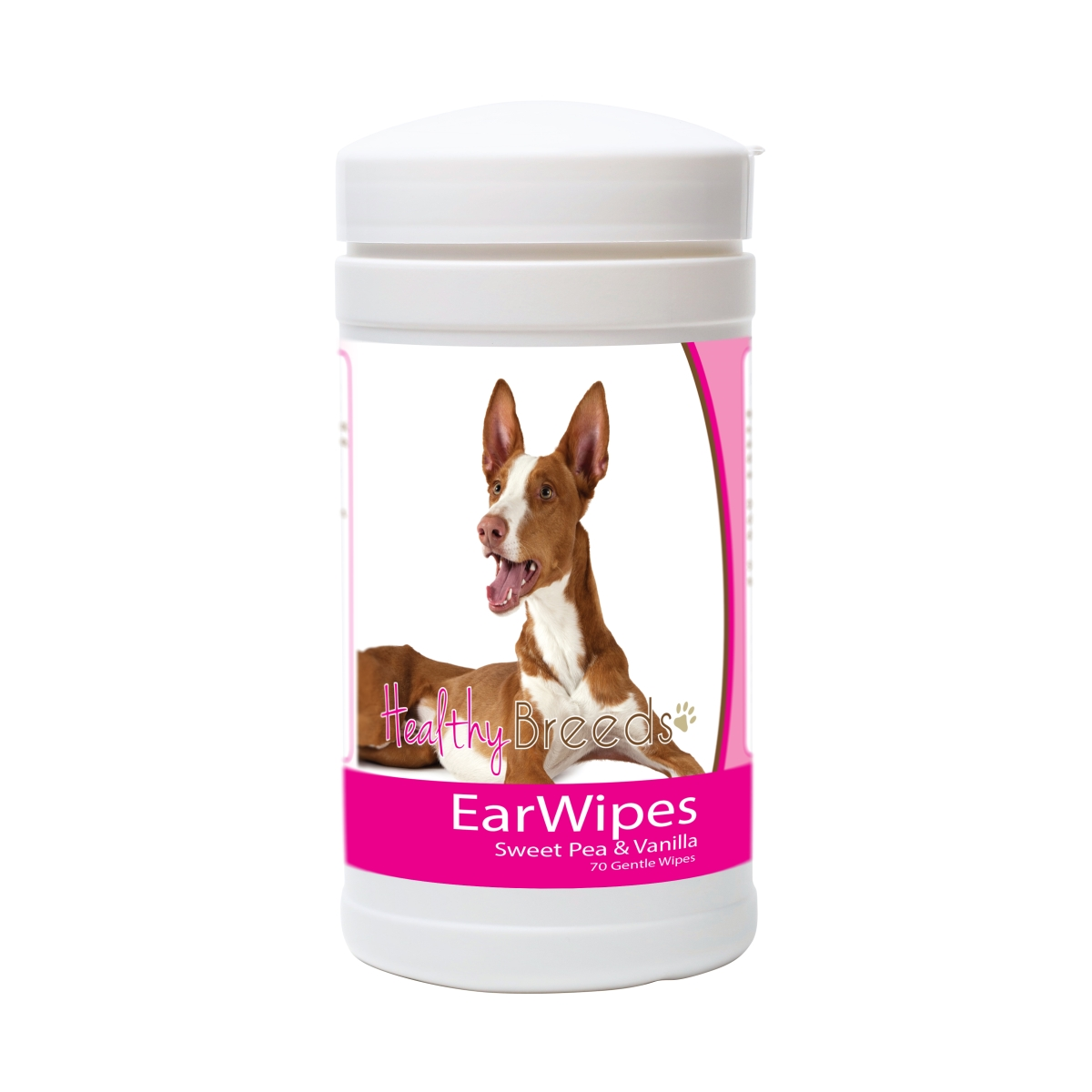 Healthy Breeds 840235174455 Ibizan Hound Ear Wipes - 70 Count