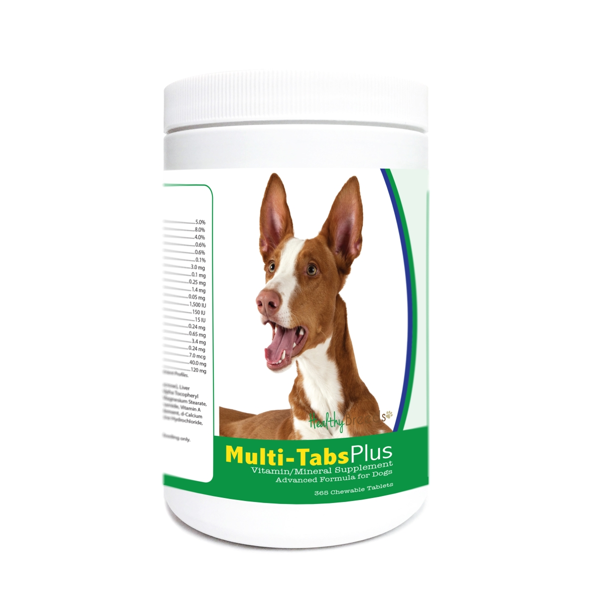 Healthy Breeds 840235174486 Ibizan Hound Multi-Tabs Plus Chewable Tablets - 365 Count