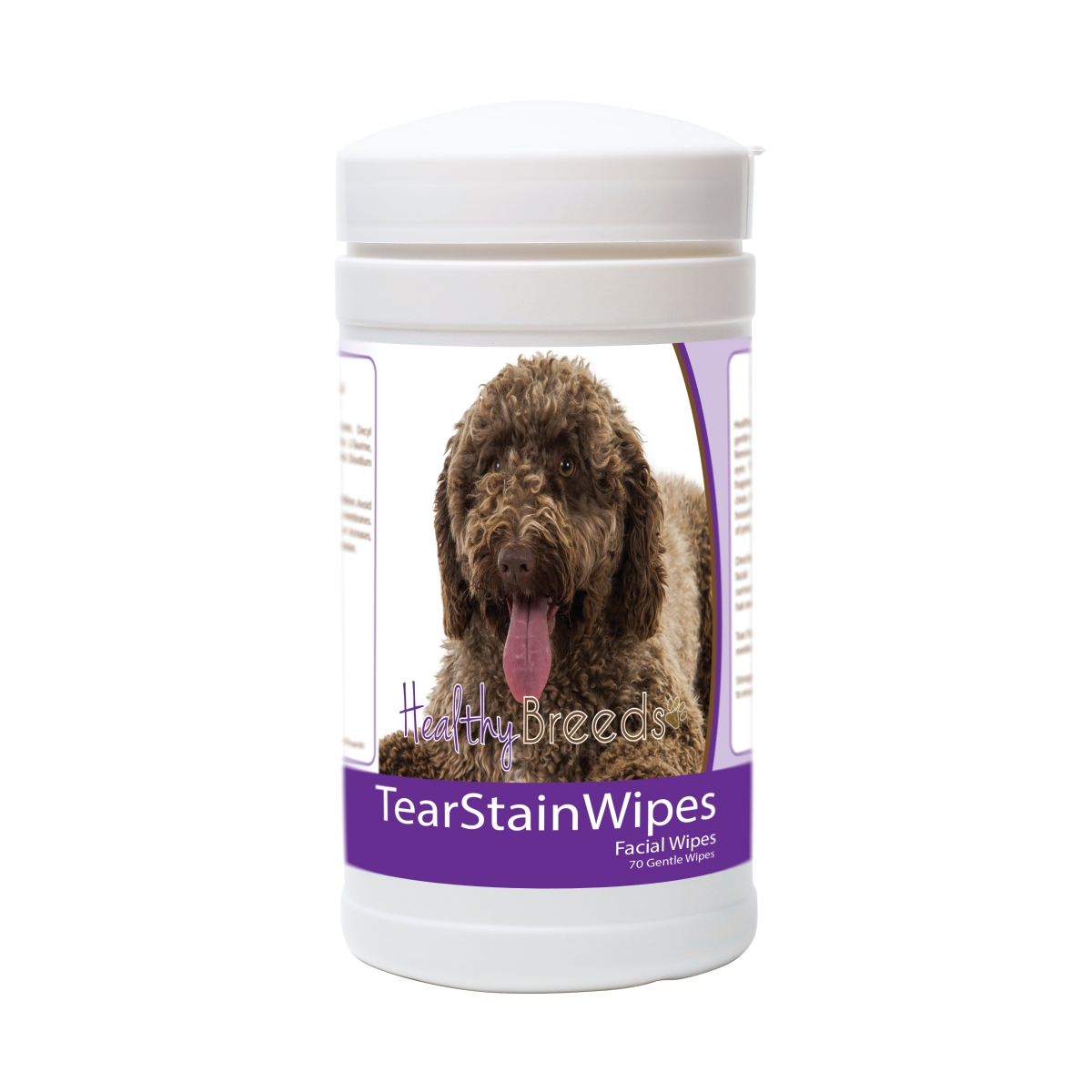 Healthy Breeds 840235174554 Spanish Water Dog Tear Stain Wipes - 70 Count