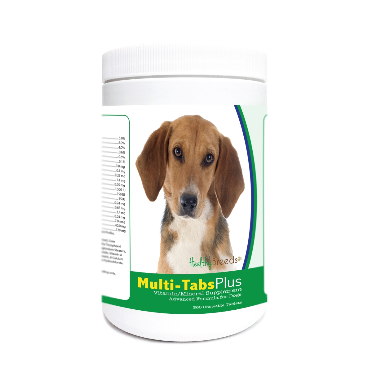 Healthy Breeds 840235174653 Harrier Multi-Tabs Plus Chewable Tablets - 365 Count