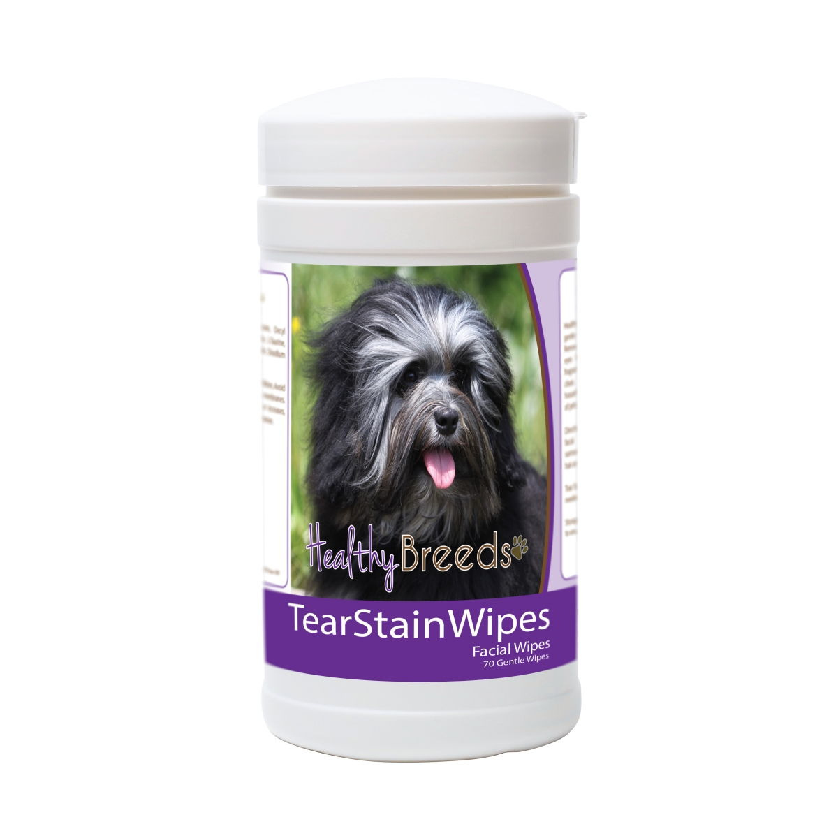 Healthy Breeds 840235174738 Lowchen Tear Stain Wipes - 70 Count