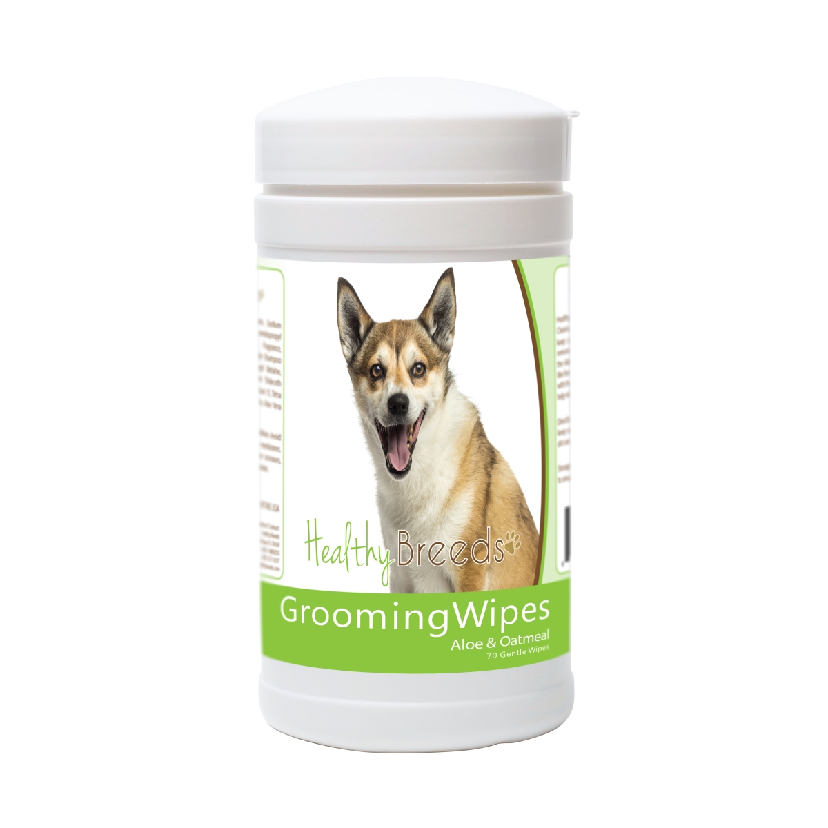 Healthy Breeds 840235174844 Norwegian Lundehund Grooming Wipes - 70 Count