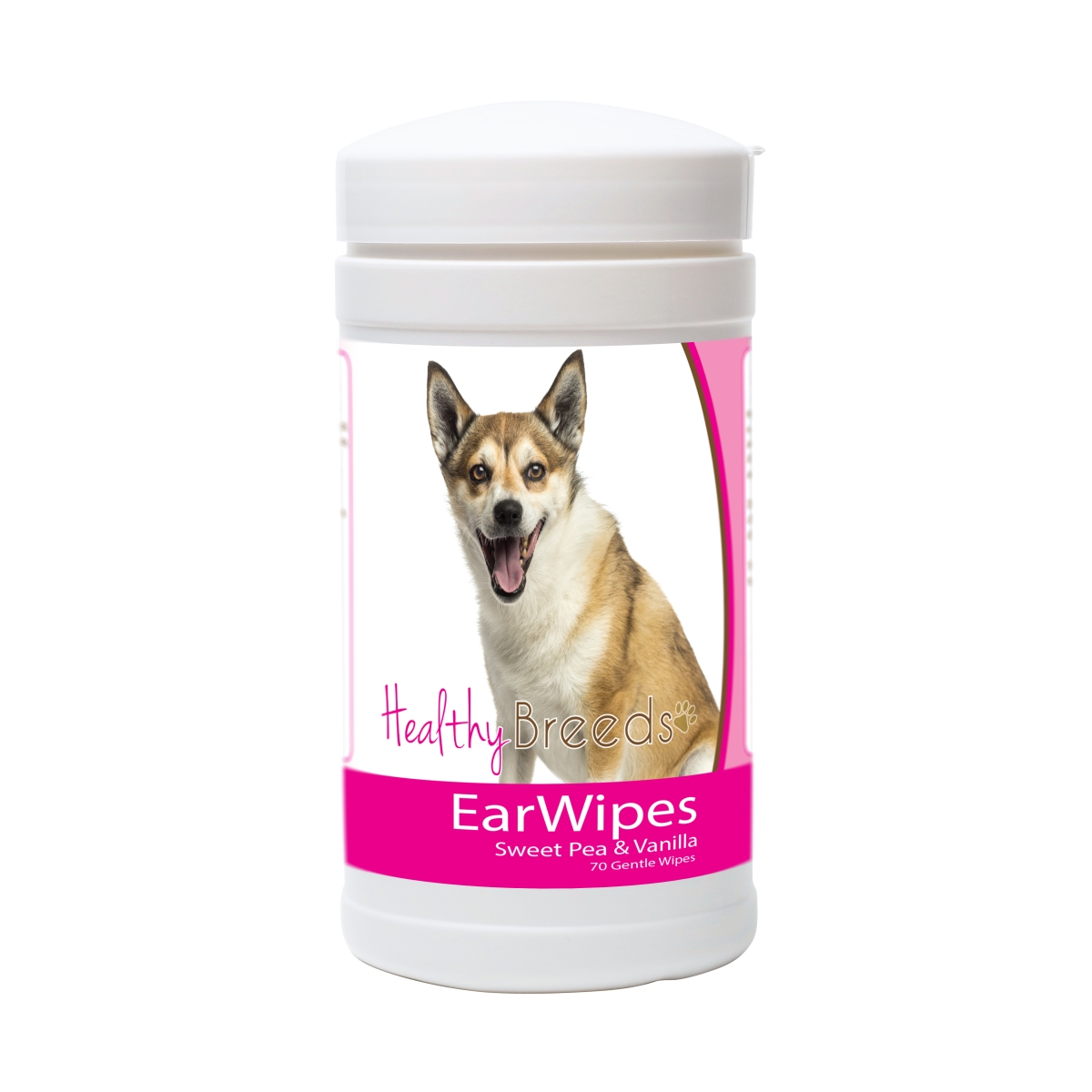 Healthy Breeds 840235174851 Norwegian Lundehund Ear Wipes - 70 Count