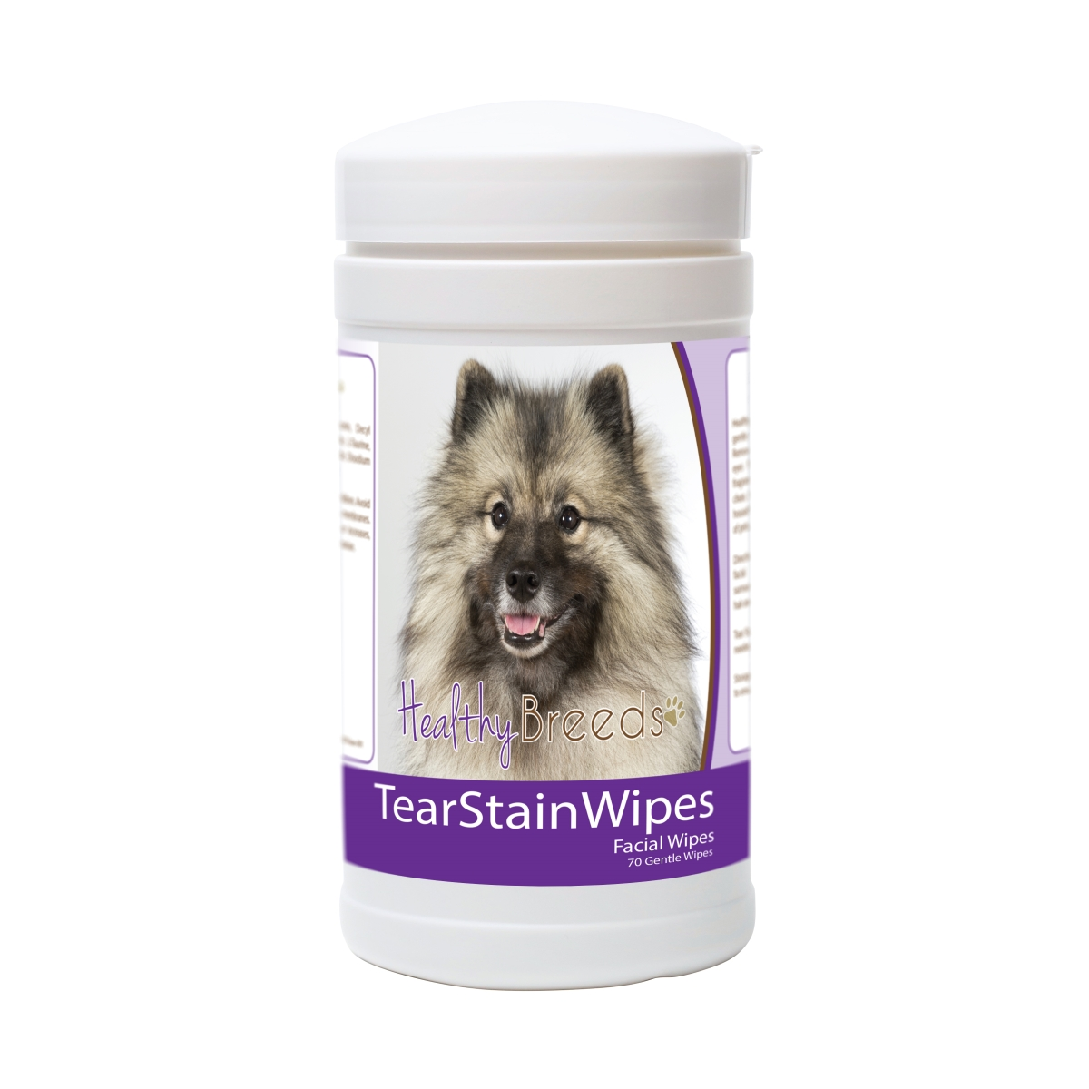 Healthy Breeds 840235175025 Keeshonden Tear Stain Wipes - 70 Count