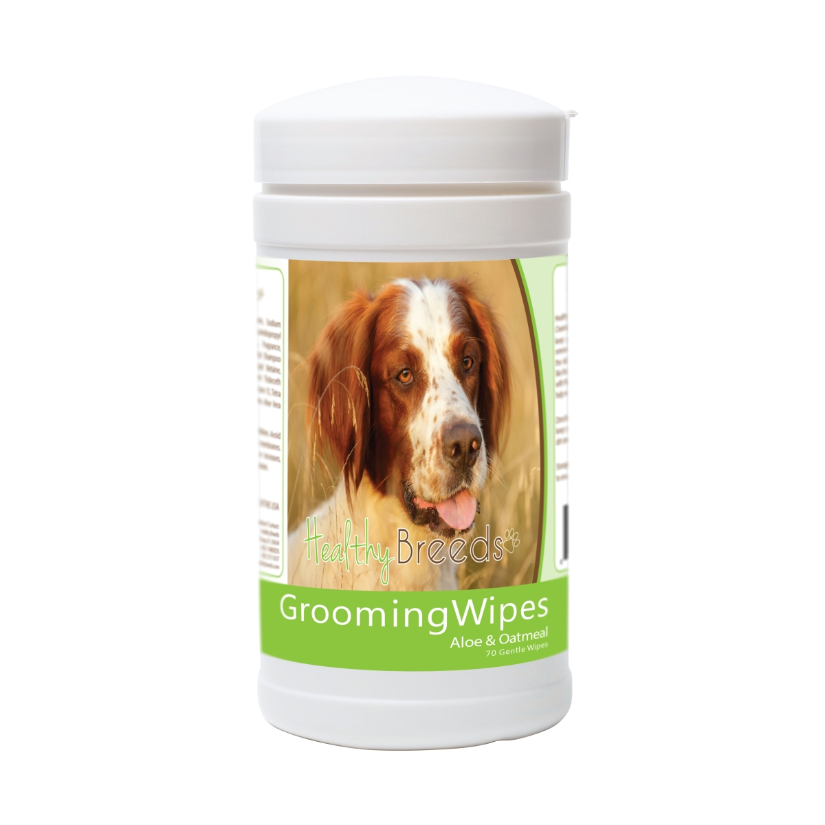 Healthy Breeds 840235175056 Irish Red & White Setter Grooming Wipes - 70 Count